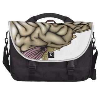 Human brain illustration laptop computer bag