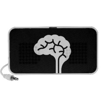 Human Brain Pictogram Doodle Speaker