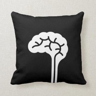 Human Brain Pictogram Throw Pillow