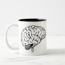 Human Brain Two-Tone Coffee Mug