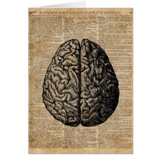 Human Brain Vintage Illustration Dictionary Art Card