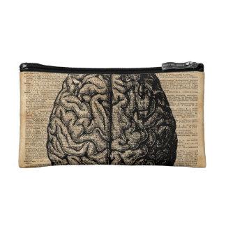 Human Brain Vintage Illustration Dictionary Art Makeup Bag