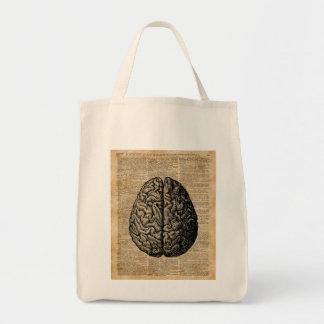 Human Brain Vintage Illustration Dictionary Art Tote Bag