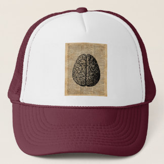 Human Brain Vintage Illustration Dictionary Art Trucker Hat