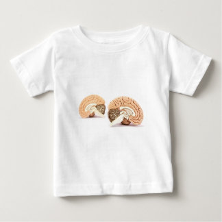 Human brains model isolated on white background baby T-Shirt