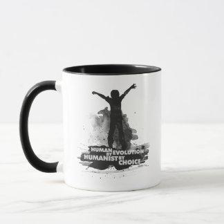 Human by Evolution. Humanist by Choice. Mug