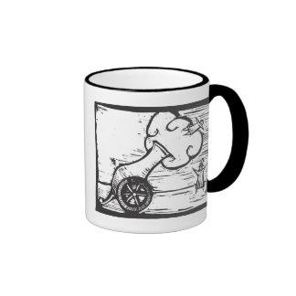 Human Cannonall Ringer Coffee Mug