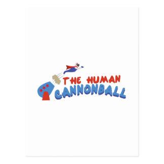 Human Cannonball Postcard