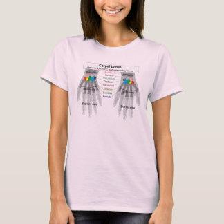 Human Carpus Bone Structure Diagram T-Shirt