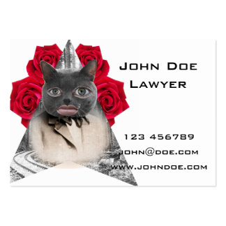Human Cat Collage Business Card
