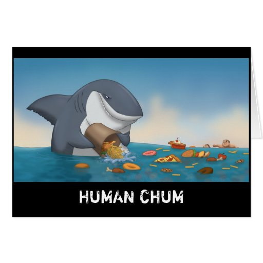 Human Chum Stationery Note Card