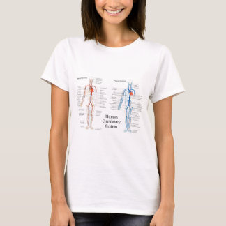 Human Circulatory System of Arteries and Veins T-Shirt
