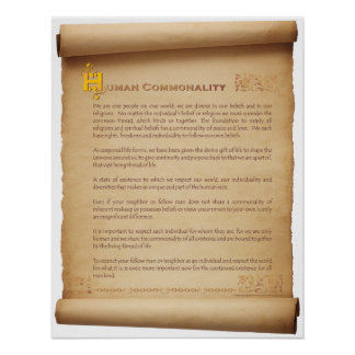 Human Commonality Scroll Poster