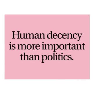 Human Decency Postcard