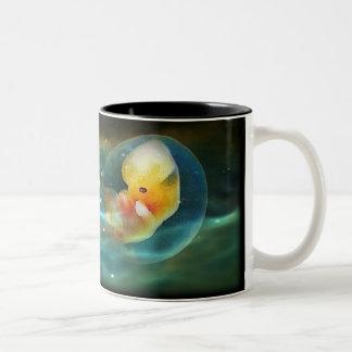 Human Dolphin Two-Tone Coffee Mug