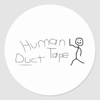 Human Duct Tape Classic Round Sticker