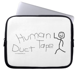 Human Duct Tape Laptop Sleeve