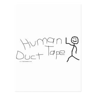 Human Duct Tape Postcard