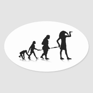 Human Evolution_12 Oval Sticker