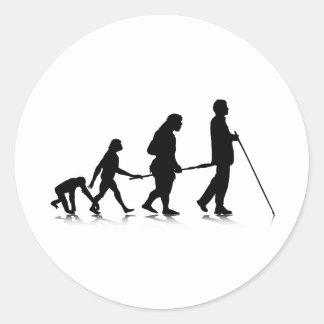 Human Evolution_3 Classic Round Sticker