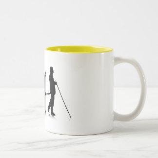 Human Evolution_3 Two-Tone Coffee Mug