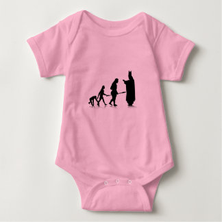 Human Evolution_5 Baby Bodysuit