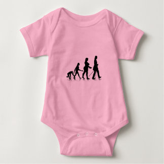Human Evolution_8 Baby Bodysuit