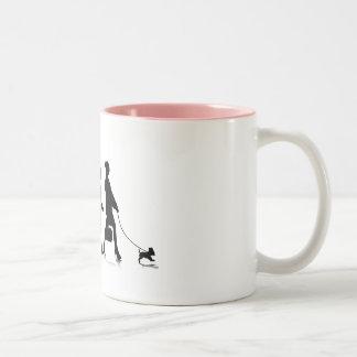 Human Evolution_9 Two-Tone Coffee Mug