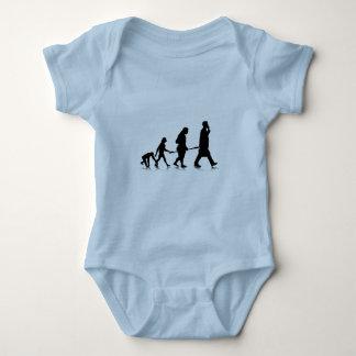 Human Evolution Baby Bodysuit