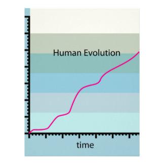 Human Evolution Graph vector Letterhead