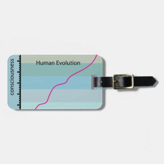 Human Evolution Graph vector Luggage Tag
