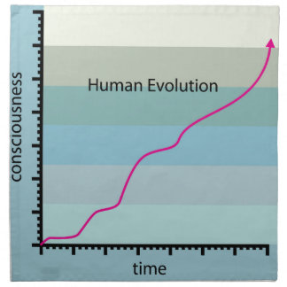 Human Evolution Graph vector Napkin