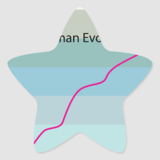 Human Evolution Graph vector Star Sticker