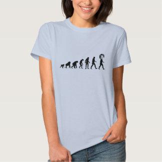 Human Evolution Hillary Clinton Tee Shirts