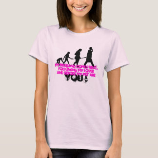 """Human Evolution"" Ladies Baby Doll (Fitted) T-Shirt"