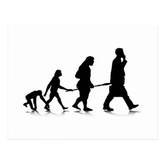 Human Evolution Postcard