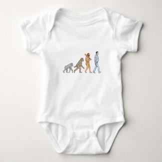 Human Evolution Walking Drawing Baby Bodysuit