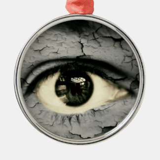 Human eye serrounded by Peeling skin Christmas Ornaments