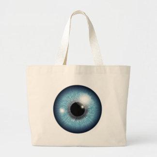 Human Eyeball Large Tote Bag