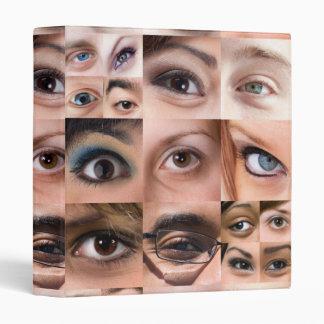 Human Eyes Montage 3 Ring Binder