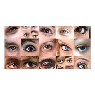 Human Eyes Montage Card