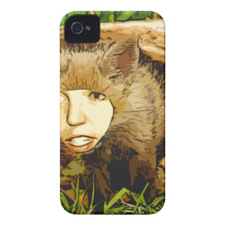 human face fox iPhone 4 covers