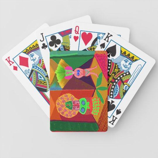 Human face of Lamp Shades -  ART101 Collection Bicycle Playing Cards