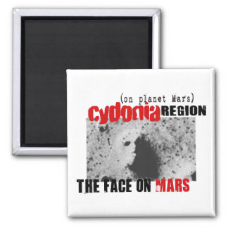 Human Face on Planet Mars 2 Inch Square Magnet