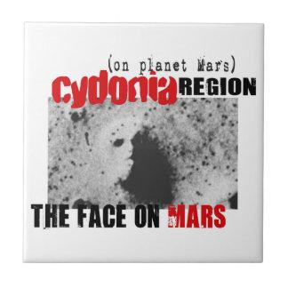 Human Face on Planet Mars Ceramic Tile