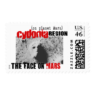 Human Face on Planet Mars Postage