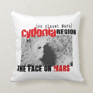 Human Face on Planet Mars Throw Pillow