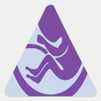 Human fetus triangle sticker