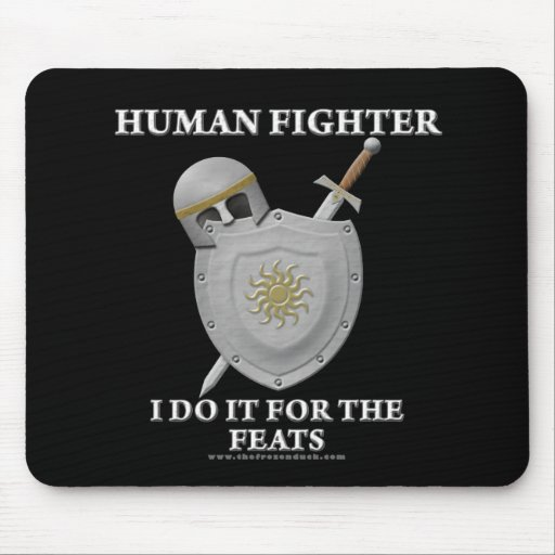 Human Fighter: For the Feats Mouse Pad