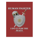 Human Fighter: For the Feats Postcard